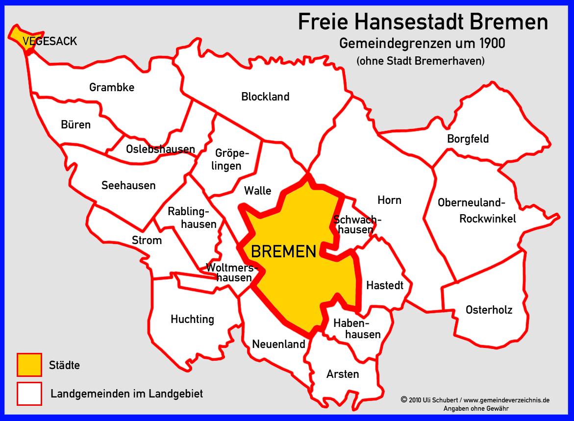 Bundesland Bremen Karte.Gemeindeverzeichnis De Deutschland